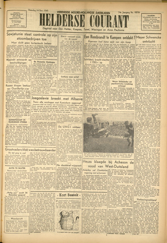 Heldersche Courant 1949-11-14