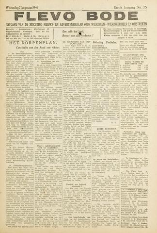 Flevo-bode: nieuwsblad voor Wieringen-Wieringermeer 1946-08-07