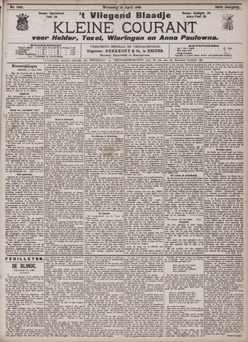 Vliegend blaadje : nieuws- en advertentiebode voor Den Helder 1906-04-18