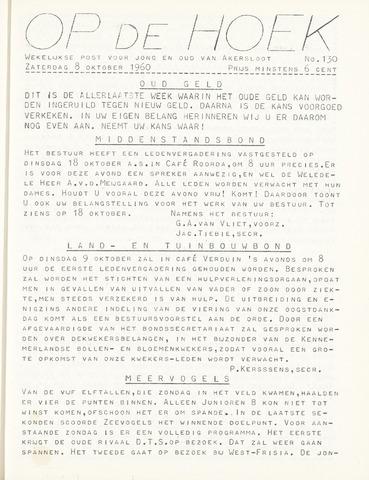 Op De Hoek, weekblad voor Akersloot 1960-10-08