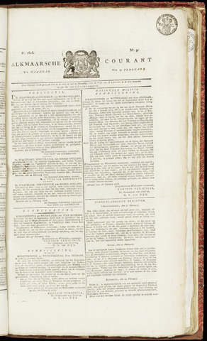 Alkmaarsche Courant 1826-02-27