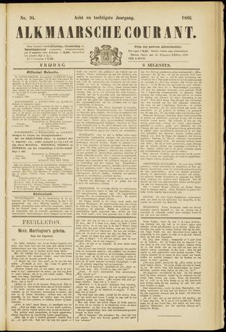 Alkmaarsche Courant 1886-08-06