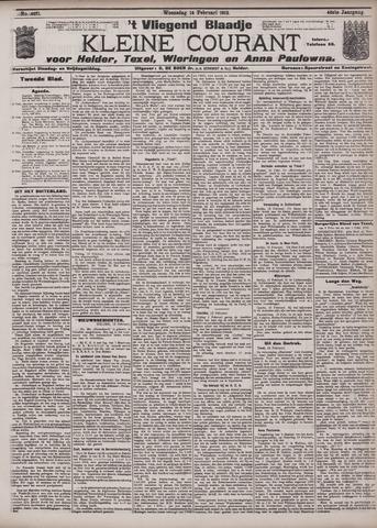 Vliegend blaadje : nieuws- en advertentiebode voor Den Helder 1912-02-14