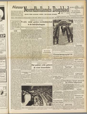 Nieuw Noordhollandsch Dagblad : voor Alkmaar en omgeving 1949-09-23