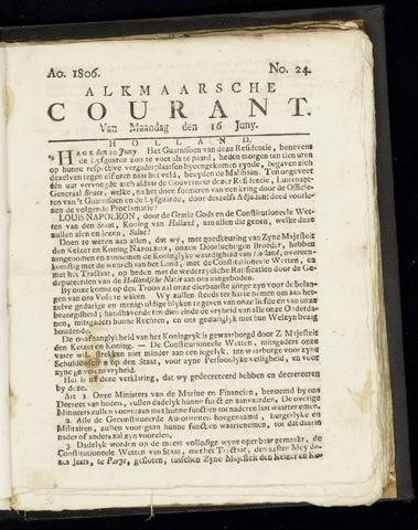 Alkmaarsche Courant 1806-06-16