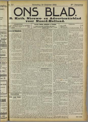 Ons Blad : katholiek nieuwsblad voor N-H 1912-10-19