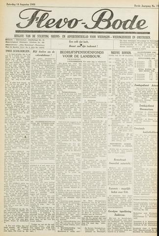 Flevo-bode: nieuwsblad voor Wieringen-Wieringermeer 1948-08-14