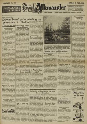 De Vrije Alkmaarder 1949-02-22