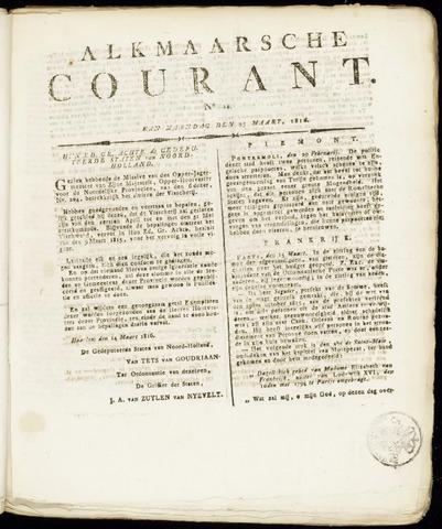 Alkmaarsche Courant 1816-03-25