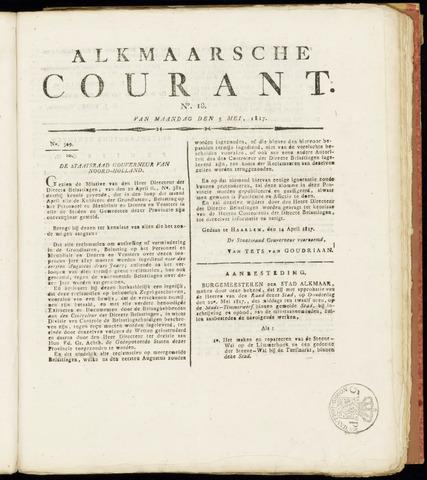 Alkmaarsche Courant 1817-05-05