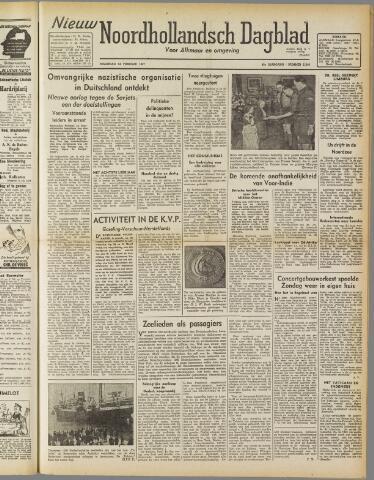 Nieuw Noordhollandsch Dagblad : voor Alkmaar en omgeving 1947-02-24