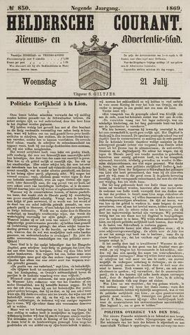 Heldersche Courant 1869-07-21