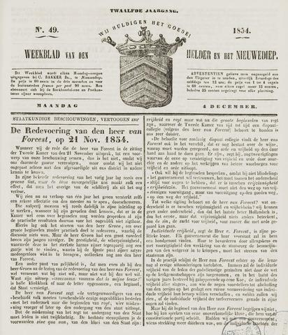 Weekblad van Den Helder en het Nieuwediep 1854-12-04