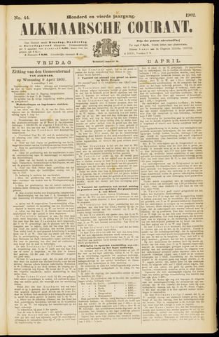 Alkmaarsche Courant 1902-04-11