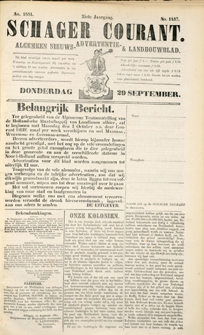 Schager Courant 1881-09-29