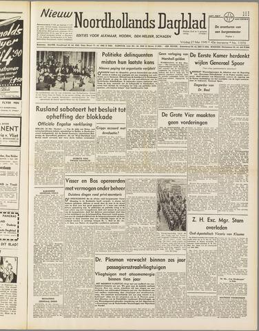 Nieuw Noordhollandsch Dagblad : voor Alkmaar en omgeving 1949-05-27