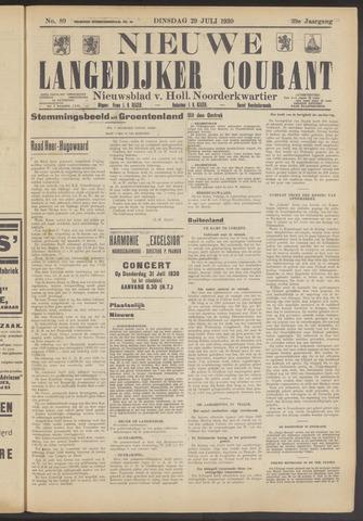 Nieuwe Langedijker Courant 1930-07-29