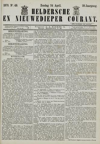 Heldersche en Nieuwedieper Courant 1870-04-24