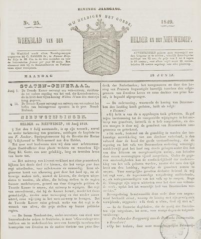 Weekblad van Den Helder en het Nieuwediep 1849-06-18