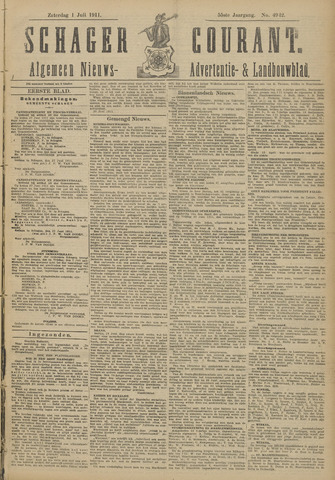 Schager Courant 1911-07-01