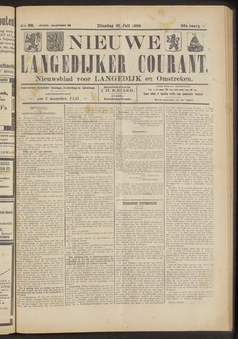 Nieuwe Langedijker Courant 1923-07-31