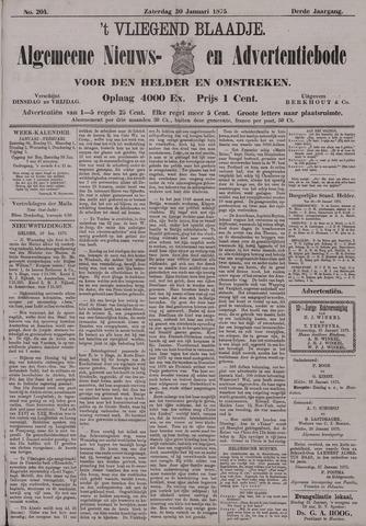 Vliegend blaadje : nieuws- en advertentiebode voor Den Helder 1875-01-30