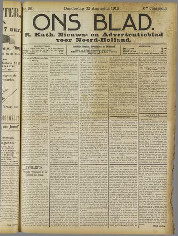 Ons Blad : katholiek nieuwsblad voor N-H 1912-08-22