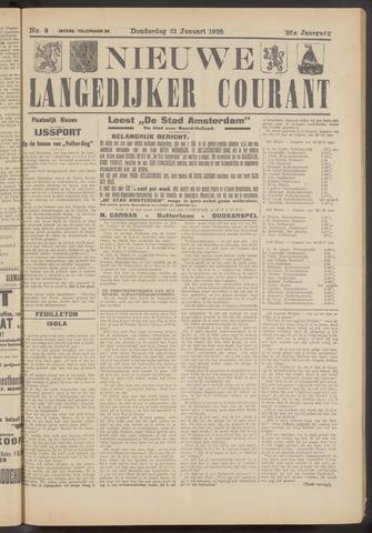Nieuwe Langedijker Courant 1926-01-21