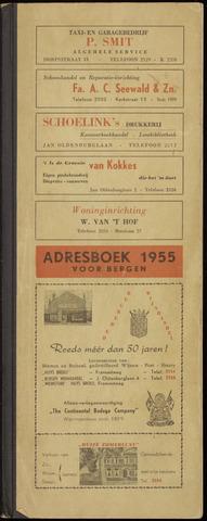 Adresboek van Bergen 1955-01-01