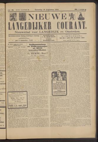 Nieuwe Langedijker Courant 1924-08-16