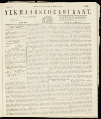 Alkmaarsche Courant 1870-09-18