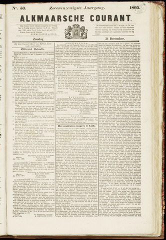Alkmaarsche Courant 1865-12-31