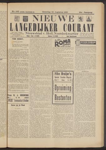 Nieuwe Langedijker Courant 1929-08-24