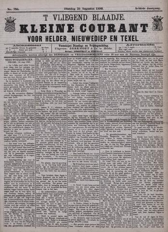 Vliegend blaadje : nieuws- en advertentiebode voor Den Helder 1880-08-24