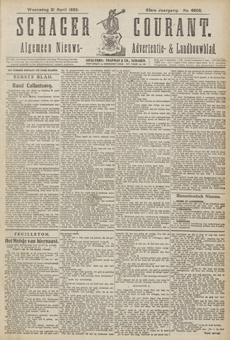 Schager Courant 1920-04-21