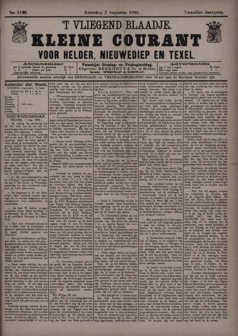 Vliegend blaadje : nieuws- en advertentiebode voor Den Helder 1884-08-02