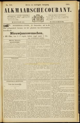 Alkmaarsche Courant 1885-12-16