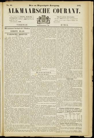 Alkmaarsche Courant 1891-05-22
