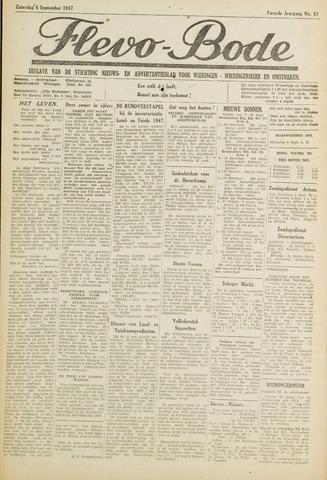 Flevo-bode: nieuwsblad voor Wieringen-Wieringermeer 1947-09-06