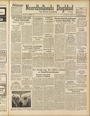 Nieuw Noordhollandsch Dagblad : voor Alkmaar en omgeving 1947-09-11