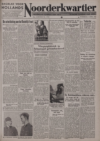 Dagblad voor Hollands Noorderkwartier 1942-04-01