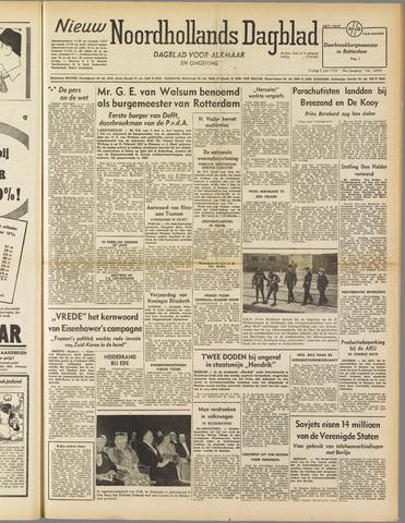 Nieuw Noordhollandsch Dagblad : voor Alkmaar en omgeving 1952-06-06