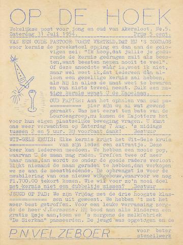Op De Hoek, weekblad voor Akersloot 1954-07-31
