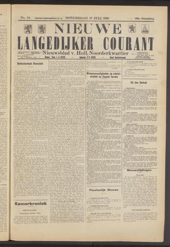 Nieuwe Langedijker Courant 1930-07-17