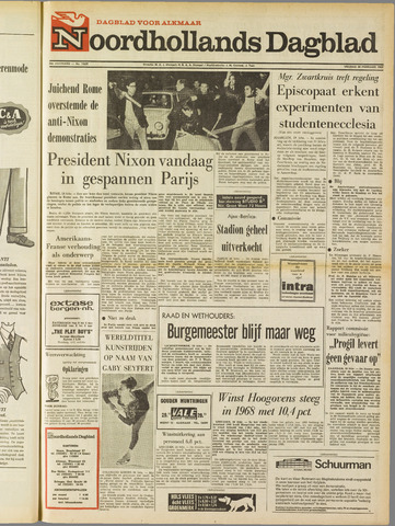 Noordhollands Dagblad : dagblad voor Alkmaar en omgeving 1969-02-28