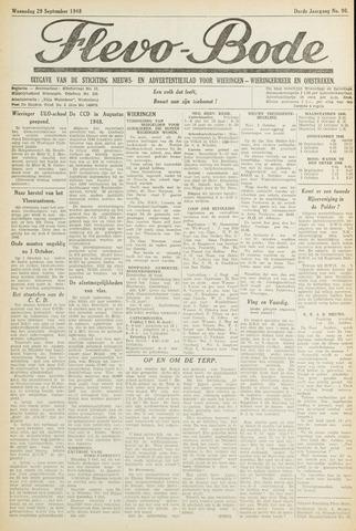 Flevo-bode: nieuwsblad voor Wieringen-Wieringermeer 1948-09-29