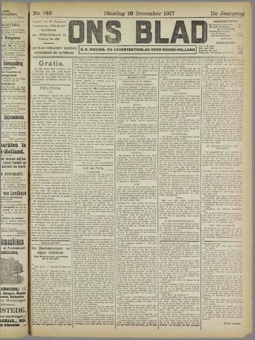 Ons Blad : katholiek nieuwsblad voor N-H 1917-12-18
