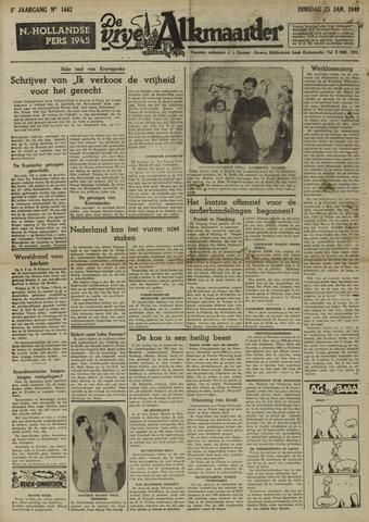 De Vrije Alkmaarder 1949-01-25