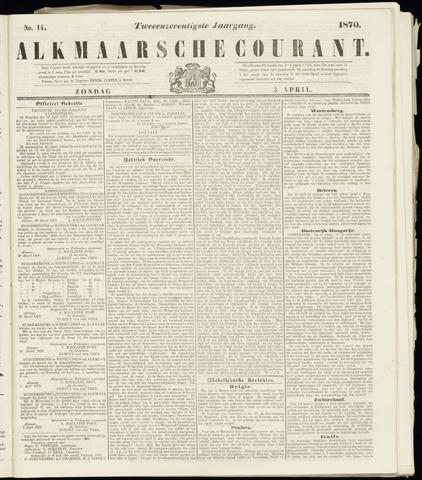 Alkmaarsche Courant 1870-04-03