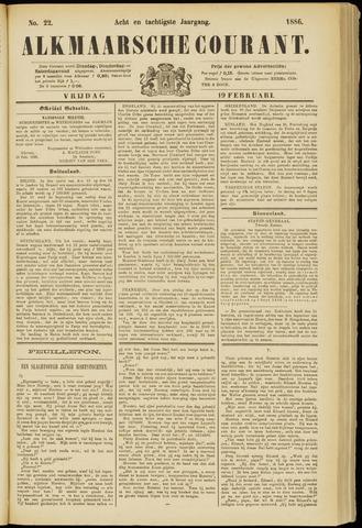 Alkmaarsche Courant 1886-02-19